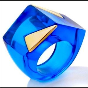 RARE- HSN for Patricia Field Noir Ring Cobalt Blue
